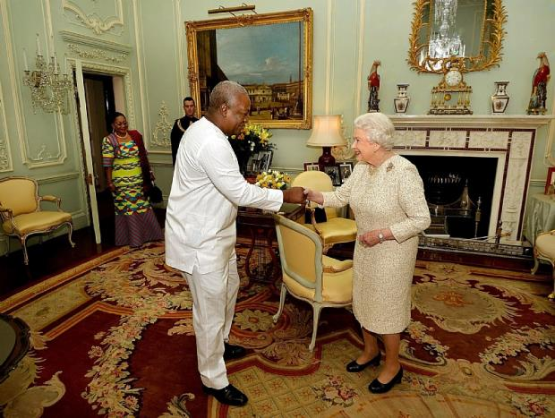 mahama and the queen