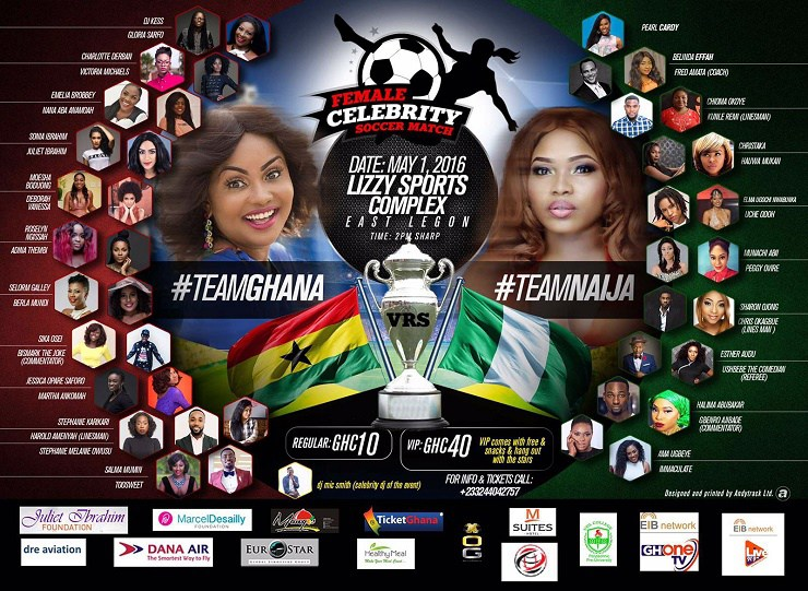 How Nigerians Managed To Draw With Ghana at The Juliet Ibrahim Celebrity Soccer Match