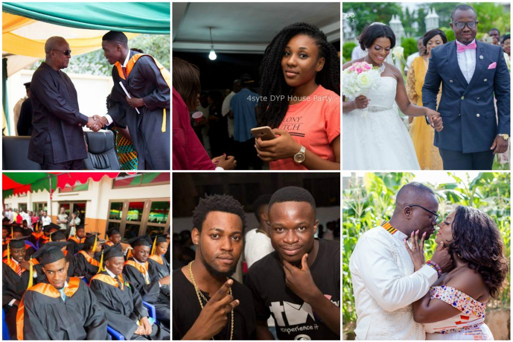 This Is What Went On Over The Weekend; Giovani's Wedding, All Nations Uni Graduation, TigoTribe Launch and Others
