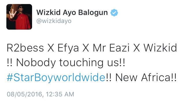 Wizkid Signs Mr  Eazi, Efya and R2Bees To Starboy Records