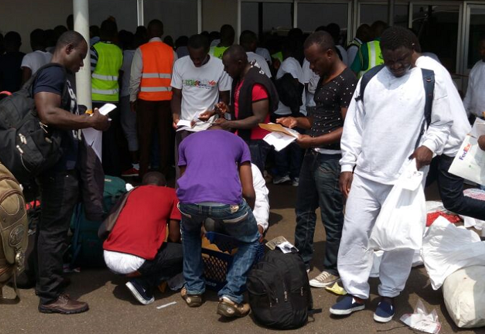 Others Were Deported For Staying Illegally Over Their Permits And Other Crimes Personnel Of The Ghana Police Service