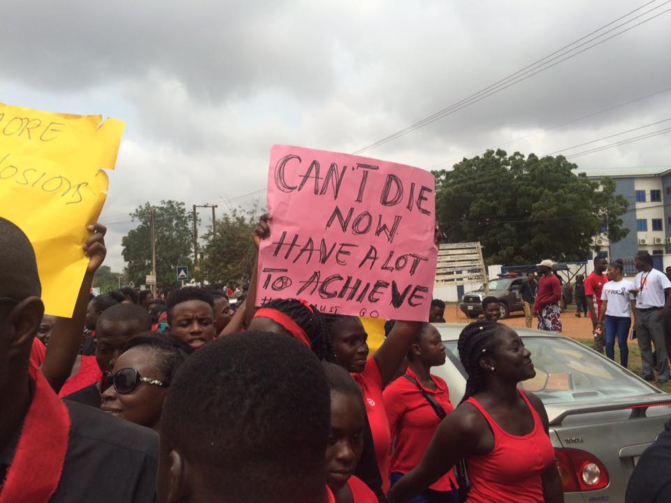 UPSA Students demonstrate