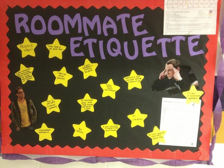 Roommate etiquette