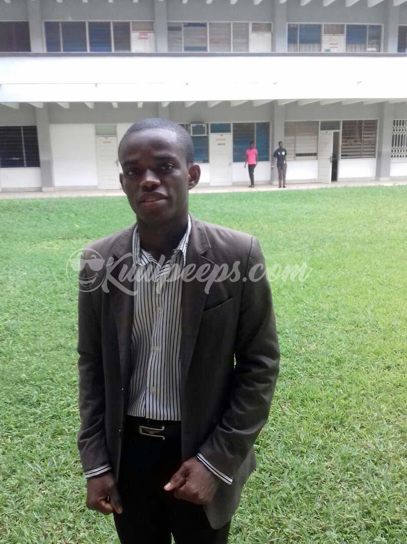 Ebenezer Amoh, UCC Overall Best Graduating Student