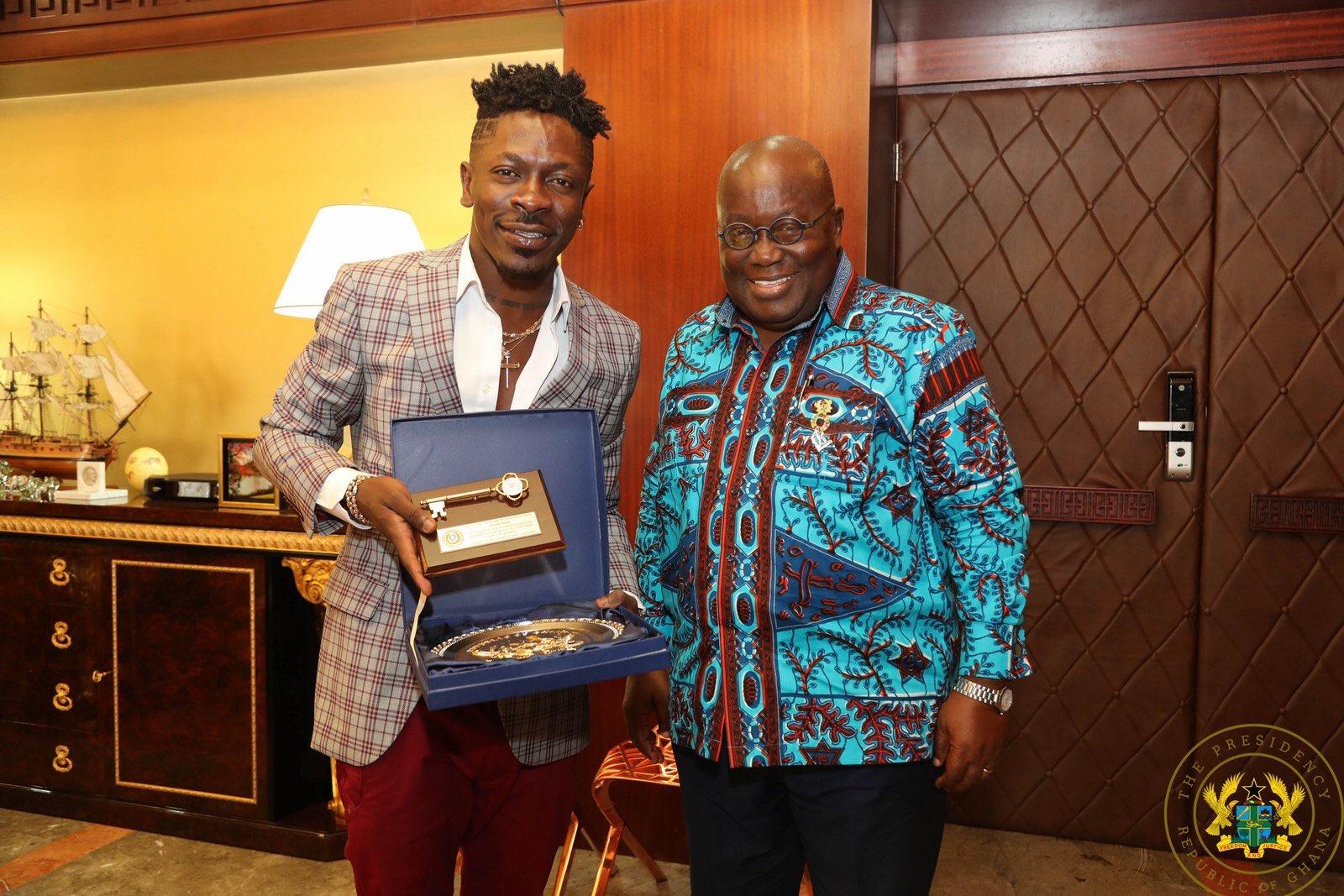 Shatta Wale and Nana Akufo-Addo
