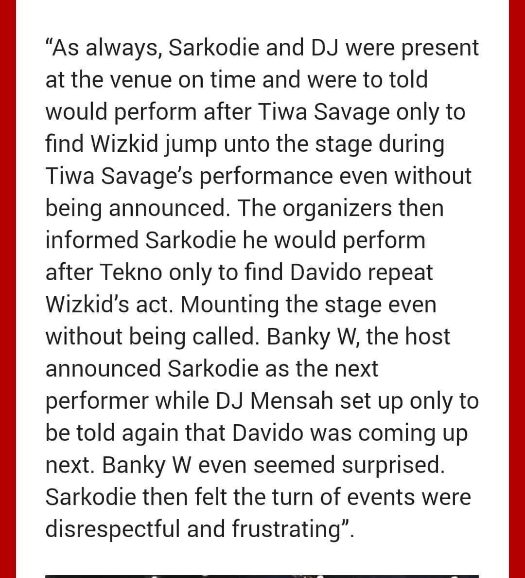 Sarkodie, One Africa Music Fest
