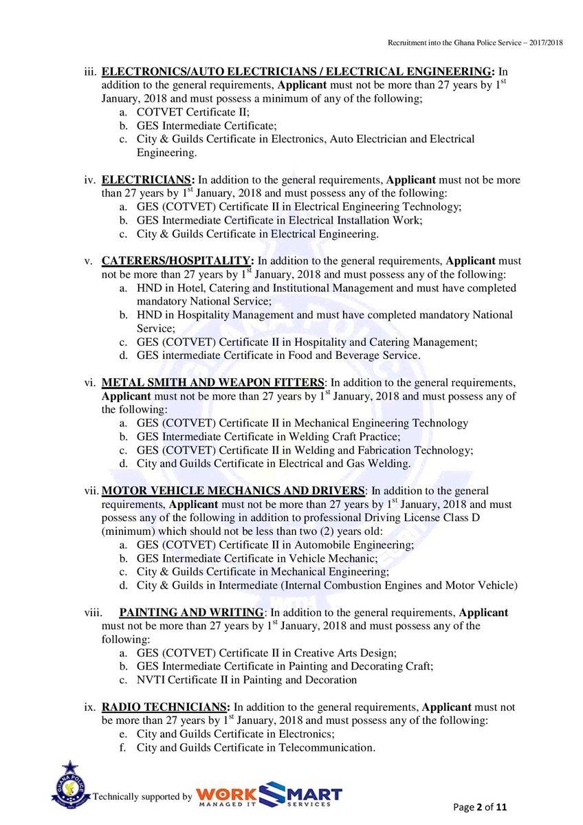 Ghana Police Recruitment