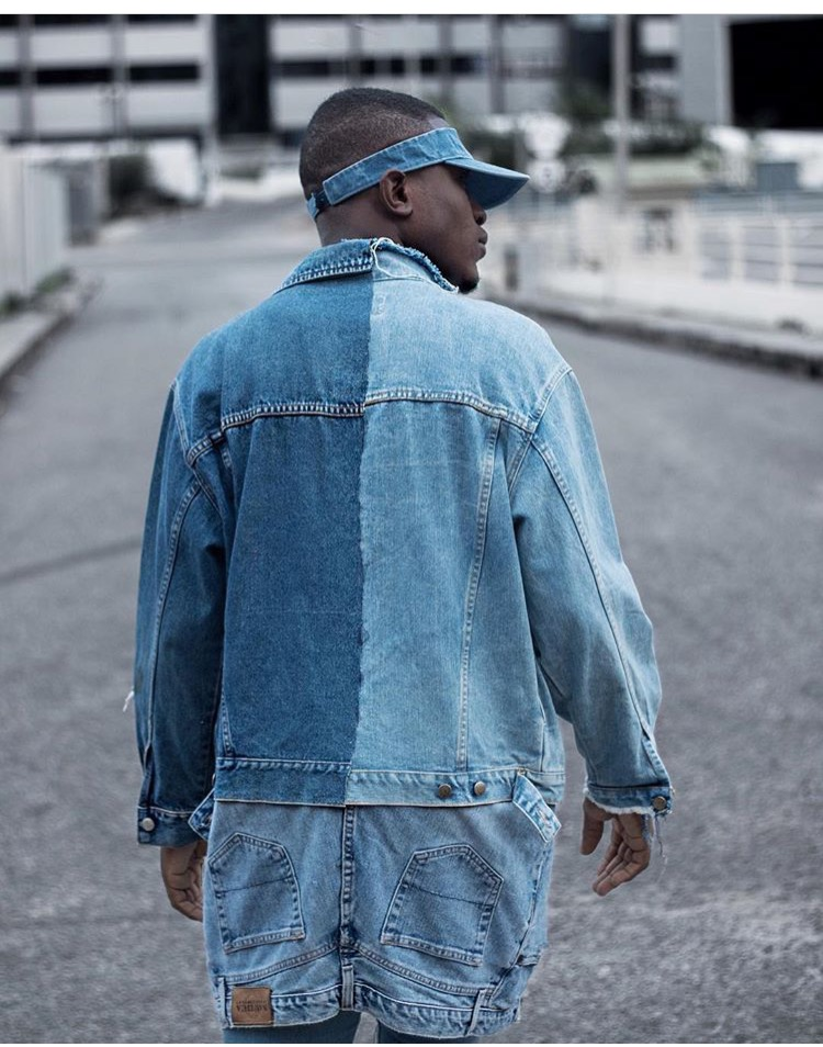 Africa to the world denim jacket !! Spice it up use your own creative influences and it make it yours. (Renaissanceofficial on ig)