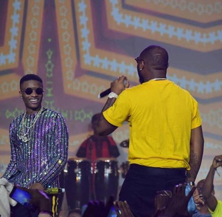 Davido and Wizkid performance