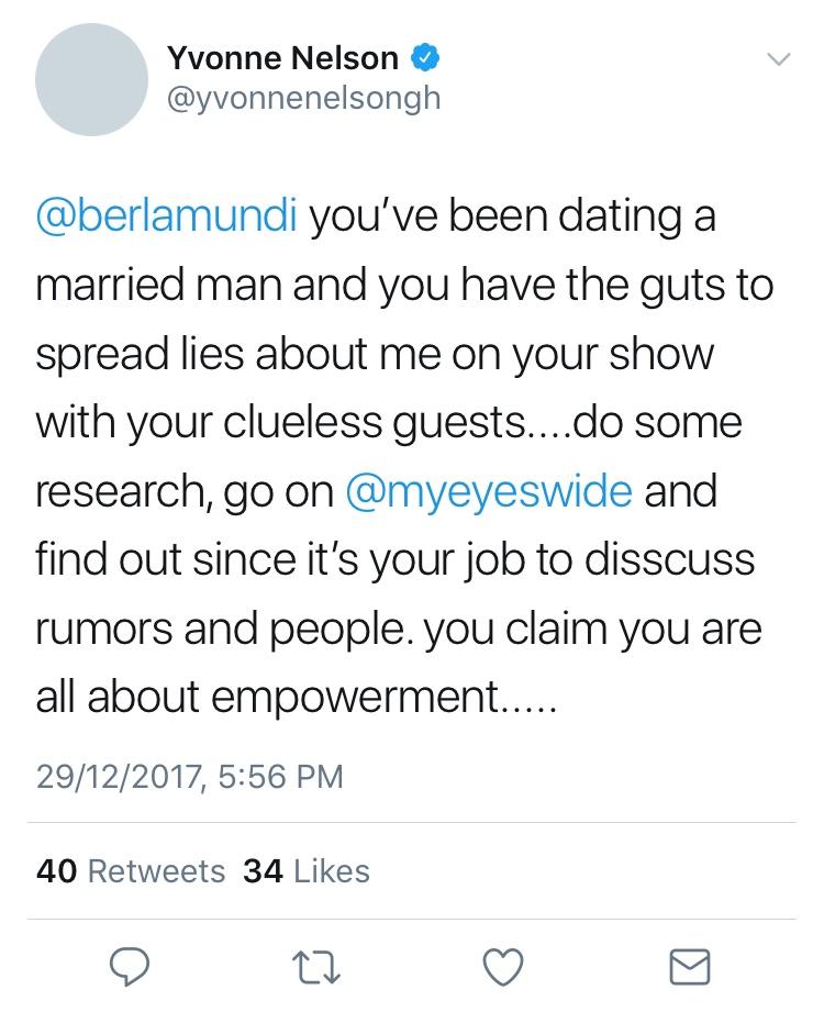 Yvonne Nelson feud