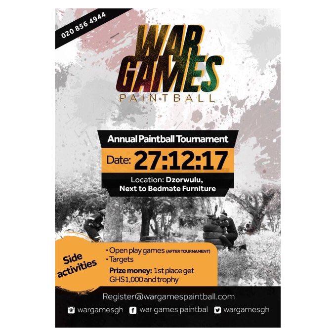 War Games Paint Ball
