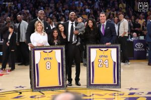 Kobe Bryant with family and friends