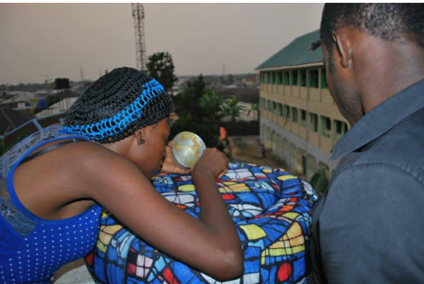 The Nigerian Lady Who Creates Brand New Funiture From Condemned Tyres Gotten From Dustbin