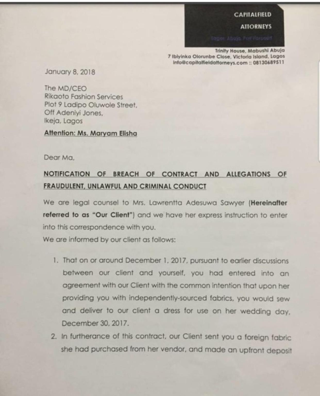 court document red dress saga