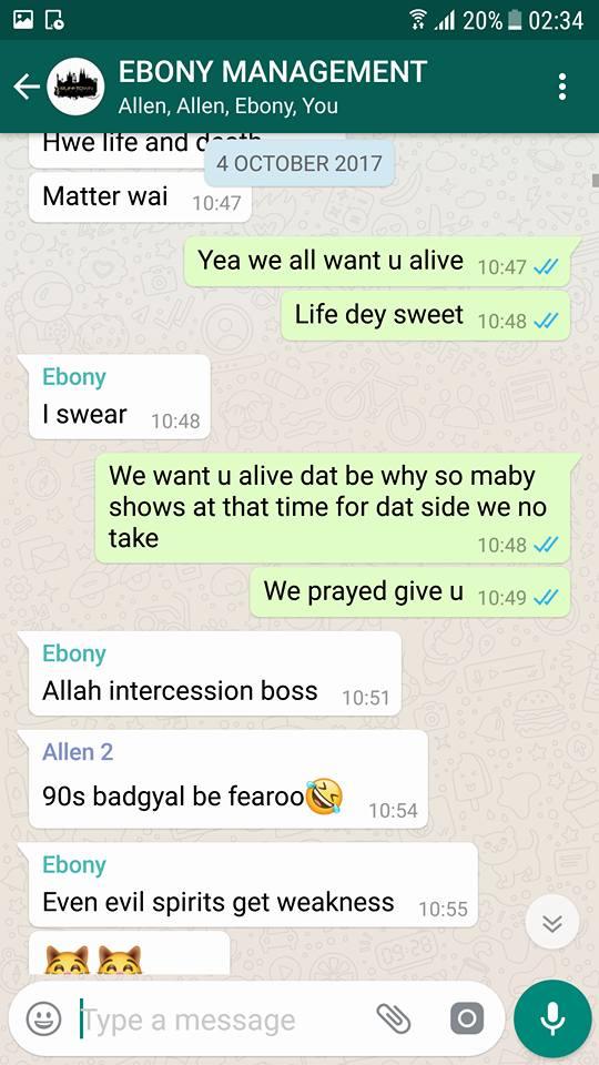 Ebony, bullet