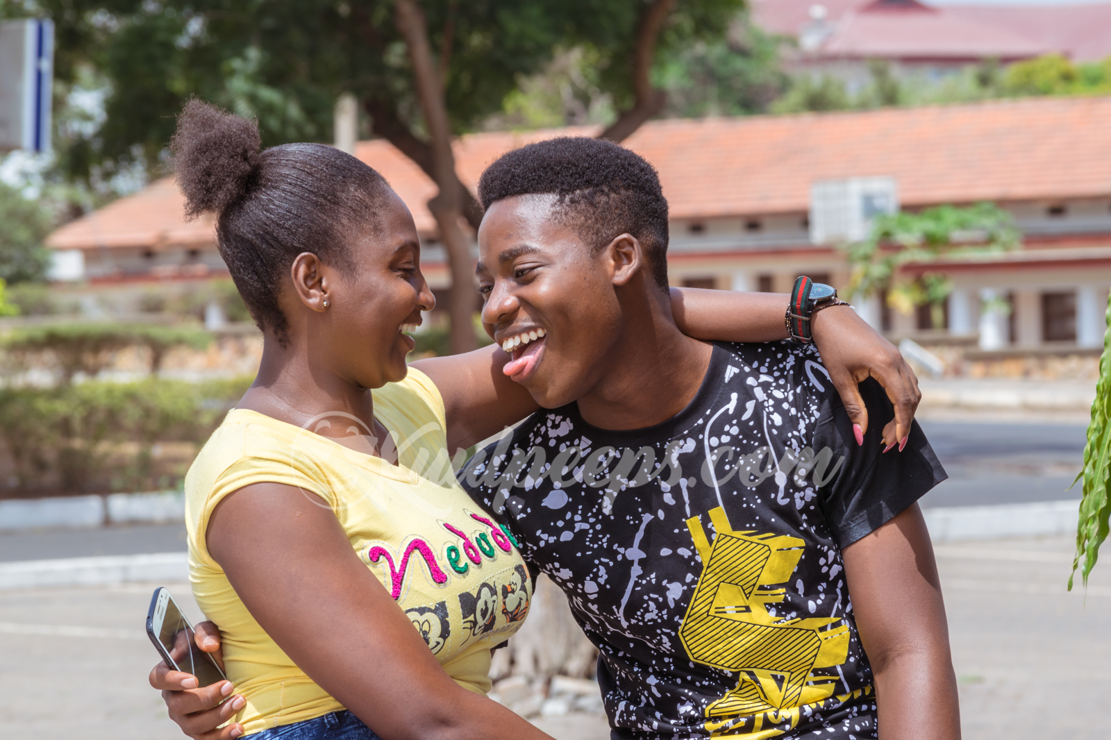 Legon campus couple