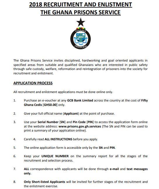 Ghana Prisons Recruitment