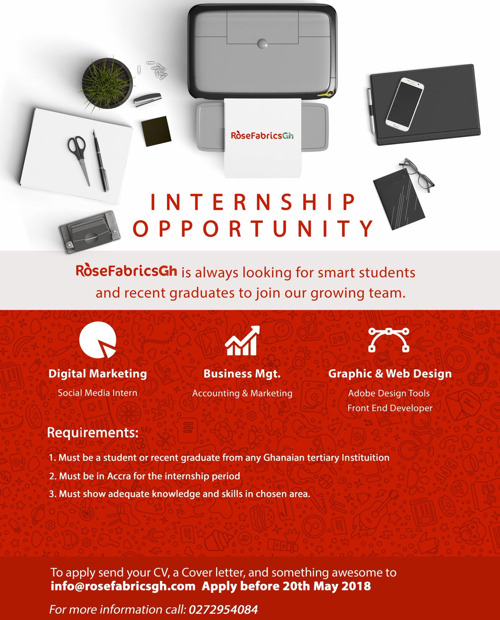 internship opportunity rose fabrics