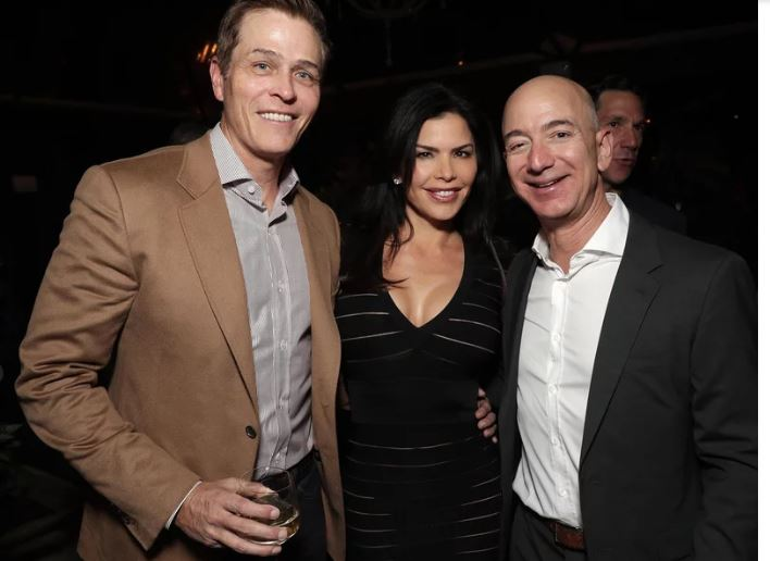 Patrick Whitesell, Lauren Sanchez and Jeff Bezos