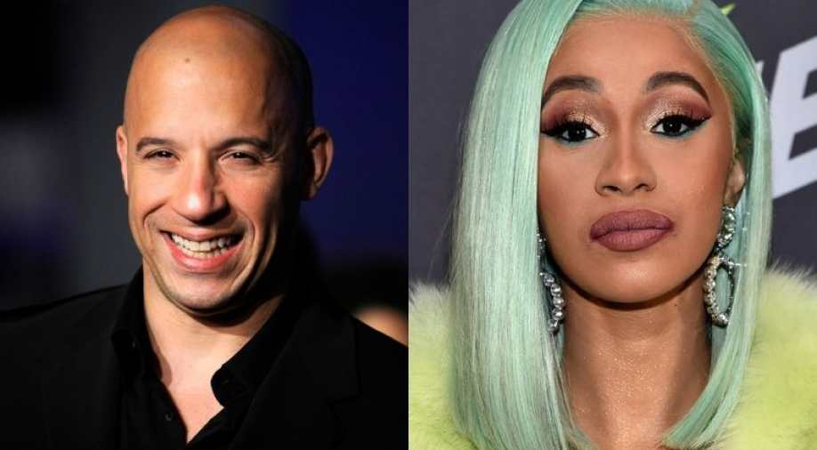 Cardi B in Fast and Furious and Vin Diesel