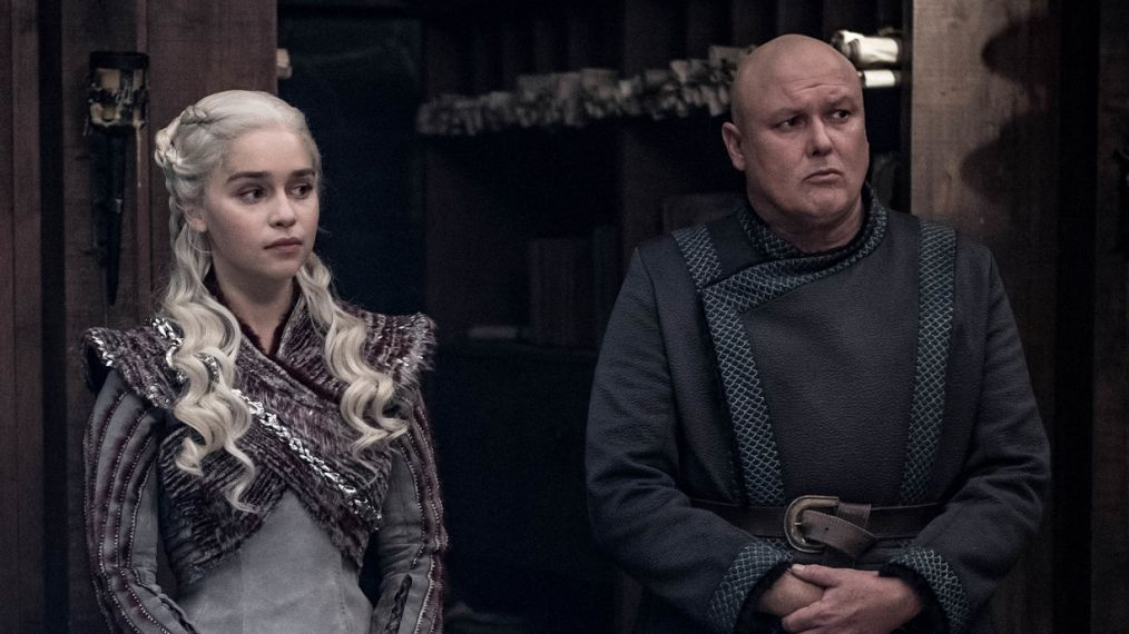 Emilia Clarke and Conleth Hill in Game of Thrones. TV Insider/HBO