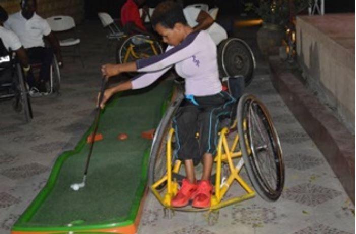Wheelchair mini golf