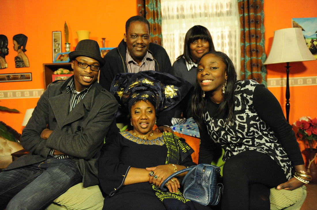 Debra Odutuyo and Andrew Osayemi with some of the cast. africanvoiceonline