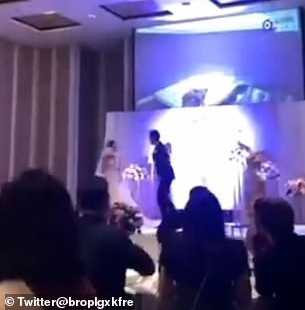 Watch the moment groom played video of bride naked in bed