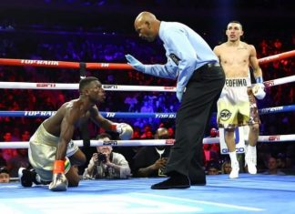 Richard Commey knocked out by Teofimo Lopez at Madison Square Garden