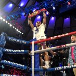 Teofimo Lopez knocks out Richard Commey to win IBF Lightweight belt (photo: Crystina Poncher-Twitter)