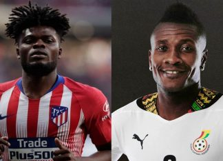 Thomas Partey and Asamoah Gyan