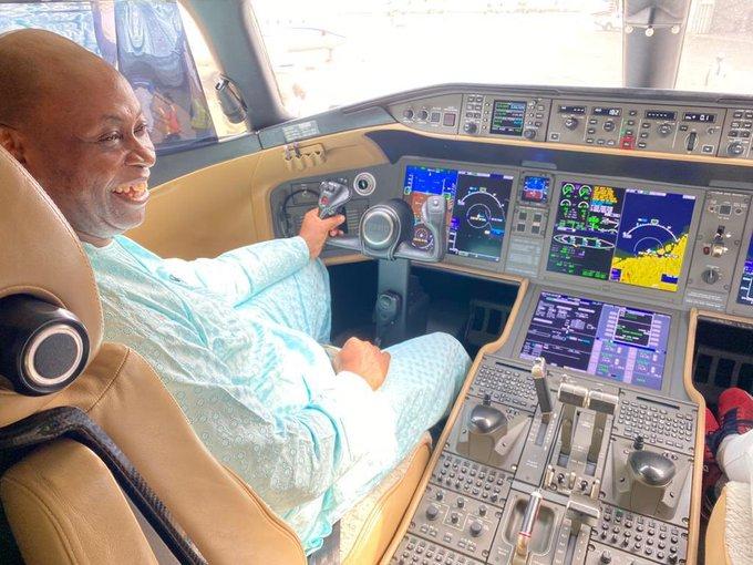 Adedeji Adeleke Davido father private jet