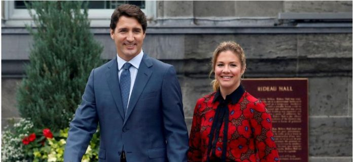Canada's Prime Minister Justin Trudeau and his wife Sophie Gregoire Trudeau