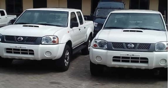The suspected stolen vehicles