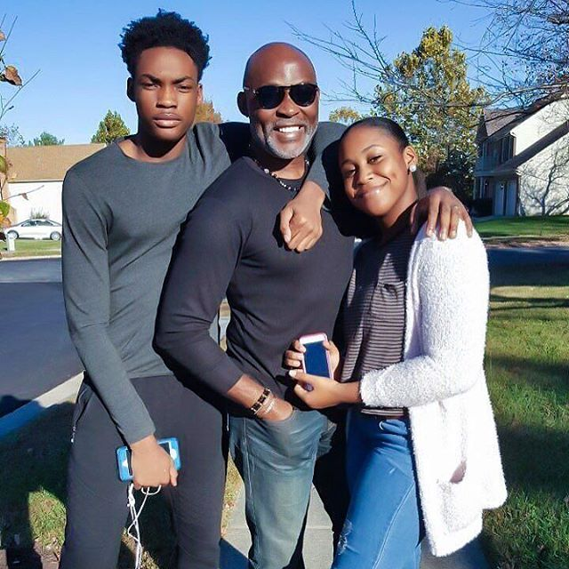 Richard Mofe Damijo and his children