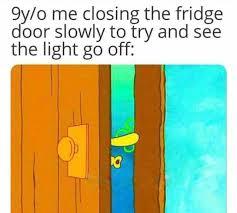 dopl3r.com - Memes - 9y/o me closing the fridge door slowly to try ...
