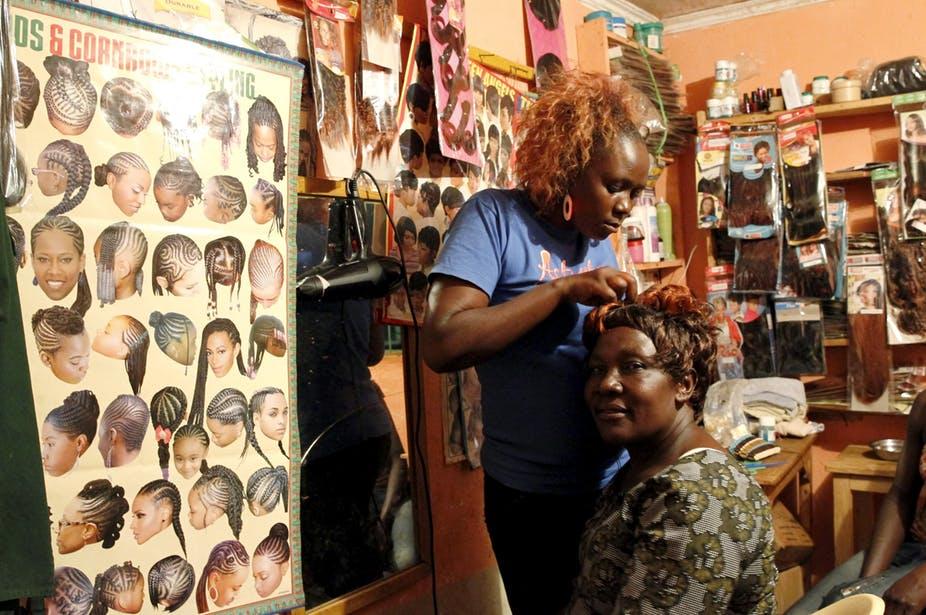 Nigerian hairdresser
