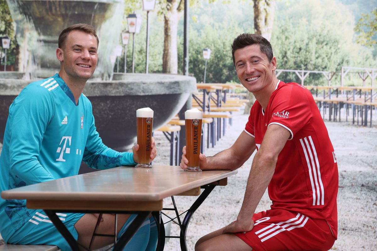 Robert Lewandowski and Manuel Neuer