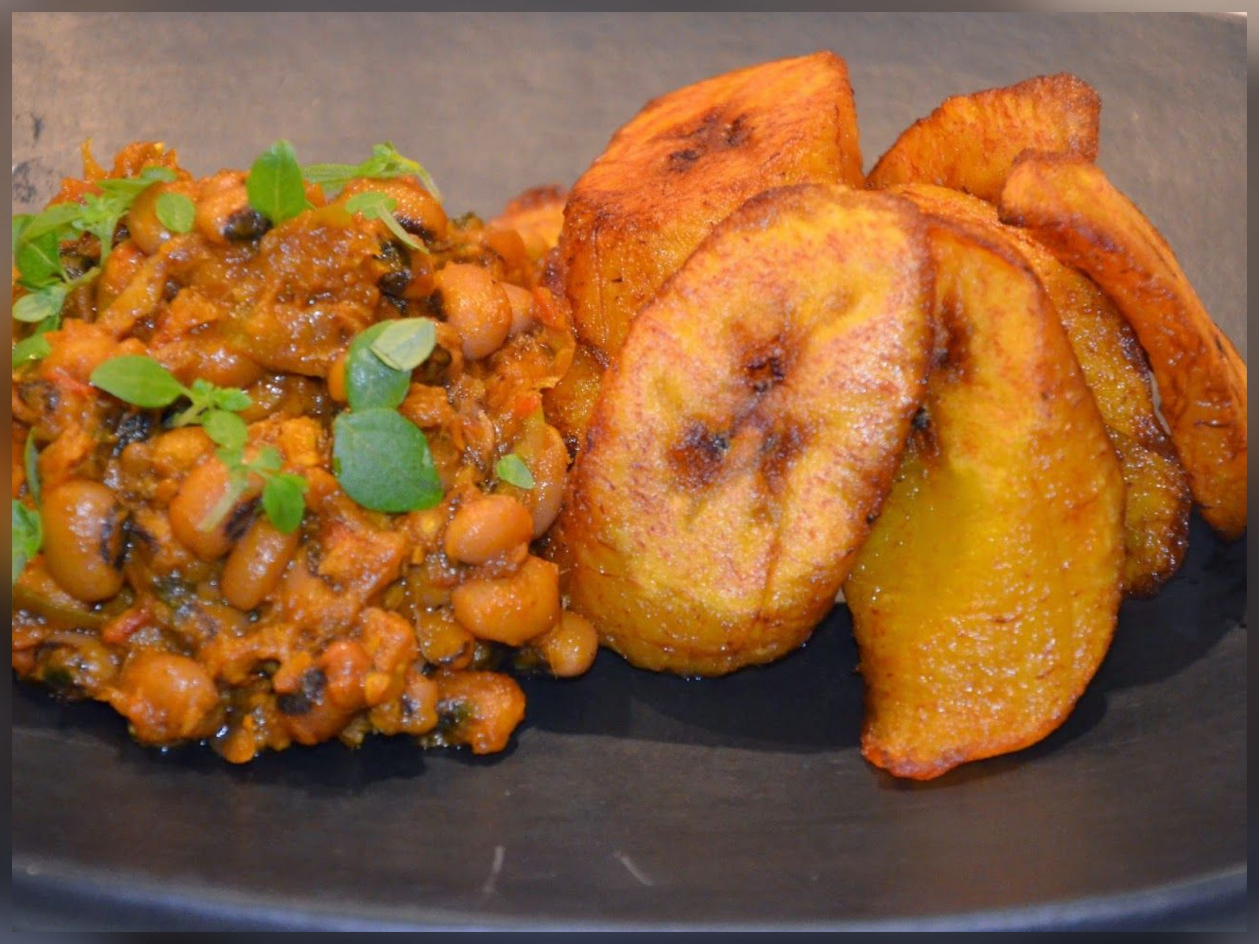 Plantain Beans Red Red